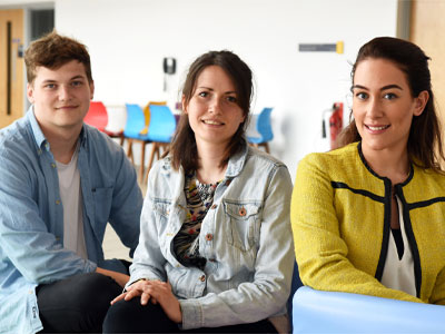 Pictured from left: Carl Meggs, Laura Woolley, Natalie Woods . Link to View the pictures.