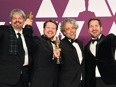 Oscar winners, from left, Ian Hunter, Tristan Myles, Paul Lambert, JD Schwalm. Link to View the pictures.