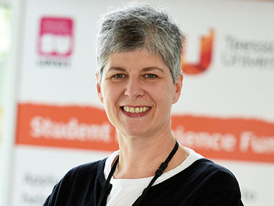 Lynn Miles, Lecturer in Education. Link to View the pictures.