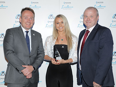 Emma Beauchamp receiving her North East degree apprentice of the year award. Link to View the pictures.