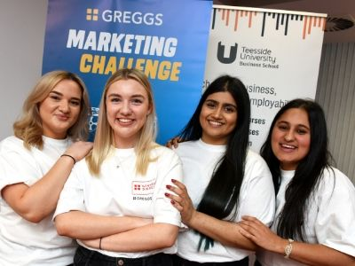 Marketing students Emily Bennett, Alisha Sarmad, Tia Ellahi and Robyn Claridge.. Link to View the pictures.