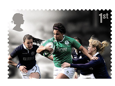 Sophie among rugby stars celebrated on commemorative stamps. Link to Sophie among rugby stars celebrated on commemorative stamps.