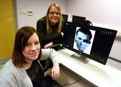 Dr Natalie Butcher and Laura Sexton.