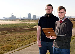 Vlogbase founded by Andy Surtees (left) and Luke Stephenson is helping preserve oral histories of the Redcar steel works.