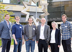 Pictured: Dr Adam Bruton (The University of Roehampton, UK), Dr Rob Hardwick (invited speaker, KU Leuven, Belgium), Dr Richard Ramsey (invited speaker, Bangor University, UK), Dr Dan Eaves (Teesside University, UK), Dr Cornelia Frank (Bielefeld University, Germany), Dr David Wright (Manchester Metropolitan University, UK)