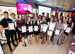 Winners at Teesside University's annual Journalism Awards.
