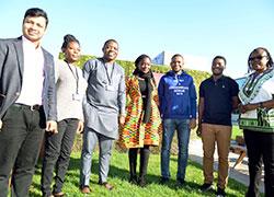 Teesside University's seven Commonwealth Scholars.