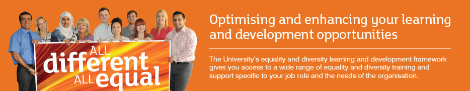 All different, all equal - optimising and enhancing your learning and development opportunities