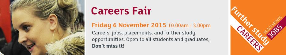 Careers fair - Friday 6 November 2015