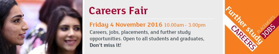 Careers fair - Friday 4 November 2016