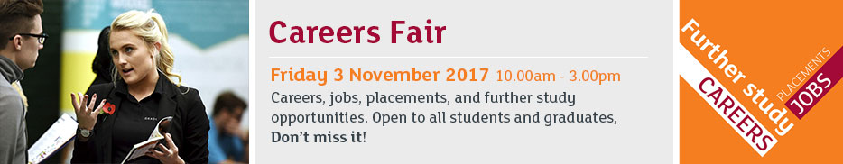 Careers fair - Friday 3 November 2017