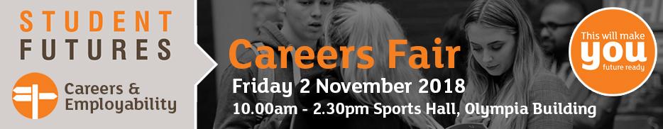 Careers fair - Friday 2 November