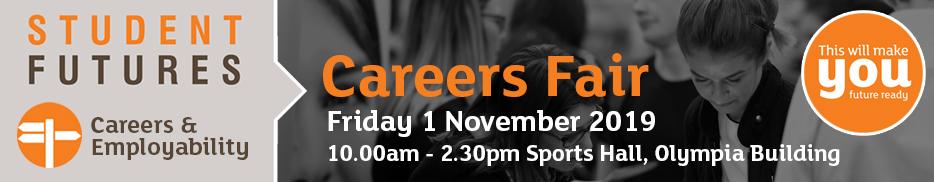Careers fair - Friday 1 November