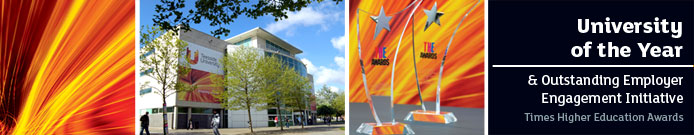 SHORTLISTED University of the Year & Outstanding Employer Engagement - Times Higher Education Awards