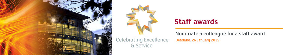 Nominate a colleague for a staff award