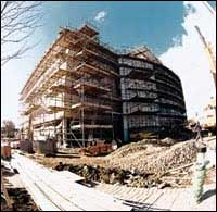 The Library taking shape in 1996