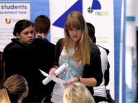 University careers fair