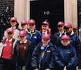 2000: Children on the University's Meteor programme to widen participation in higher education visit 10 Downing Street.