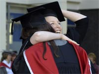 Female Graduates on campus
