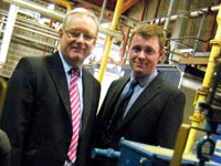Adam Stewart, right, with Tom Weldon, Site Operations Director at International Cuisine