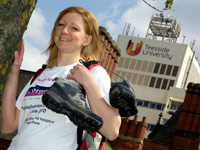 Siobhan Beaney is preparing for her fundraising trip.
