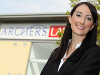 Lucy Butler, who is working as a family solicitor, after graduating with a first class LLB (Hons) law degree.
