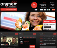 Animex website 2012