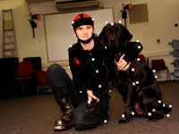 Mel Robson and her guide dog Nyle.