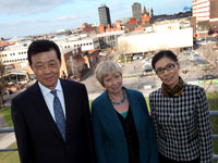 His Excellency Ambassador Liu Xiaoming with his wife and Professor Caroline MacDonald, Deputy Vice-Chancellor (Partnerships & Standards)
