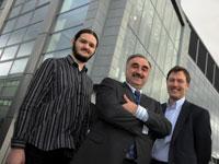 Left to right – KTP associate Michael Hodds, Professor Nashwan Dawood and Steve Wilson.