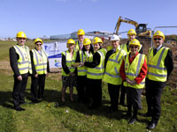 Freebrough Academy turf cutting for new Peter Jones Enterprise Academy