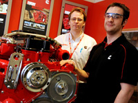 Manufacturing Engineering Manager Steve Morley and Teesside University graduate Barry Moore.