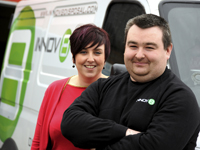 Louise McAlpine and Ross Chipper of Innov8 Disposal.