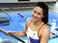 Aimee Willmott, current student and member of the elite athlete scheme.