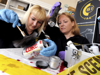 L-R Dionne Wightman and Angela Davies, CSI Training and Events
