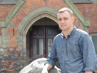 Daniel Johnson, who studied History at Teesside University