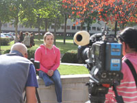 Jade Jones being interviewed for Transworld Sport.. Link to View the pictures.