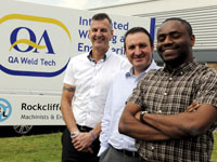 Left to right: Paul Langley, Dr Ruben Pinedo-Cuenca and Fredrick Okwute