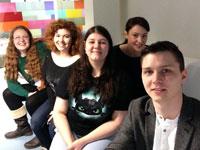 From left Vicky Wainwright, Jade Hallitt, Ruthie Nielson, Alex Kerry and Lukasz Kupczak