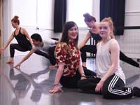 Gabriella Garroway and Holly Bellamy (front), with current students Bethany Robinson, Matthew Redhead and Emma Graham.. Link to View the pictures.