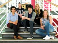 Rachel Close, Nico Gaballonie, William Ahmadi, Gemma Bottomley and Aimee Eriksson.