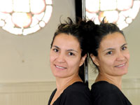 Professor Ana Baer at Teesside University's Mercuria Building dance studio.. Link to View the pictures.