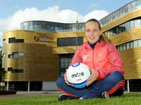 Beth Mead.. Link to Star striker backs campaign to get more young girls enthused about football.