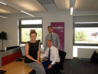 L-R: Jess Wilson, Resource Consultant, Steve McGurk, SEN Recruitment Consultant, and Will Washington, National SEN Manager.. Link to Fusion Hive receives an A* from Vision for Education.