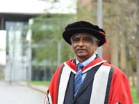 Dr Shaikh Hamid graduated with a PhD.. Link to Forty year commitment to finish a lifetime's work.