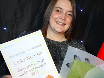 Link to Nursing student's award delight.