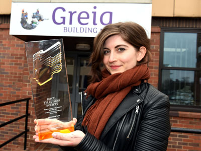Domareen Fox with her RTS award.. Link to View the pictures.