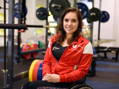 Jade Jones, a member of Teesside University's Elite Athlete Scheme who has been called up to the Great Britain Paralympic squad.. Link to View the pictures.