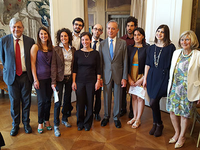 The judges and winners at the 'Italy Made Me' awards. Link to View the pictures.