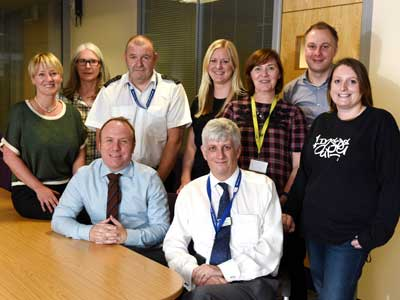Teesside University and Holme House Prison staff who will be working together on the Inside Out programme.. Link to View the pictures.